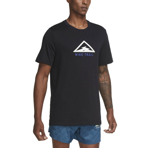 Nike Dri-FIT Trail T-Shirt - Black/Pistachio Frost