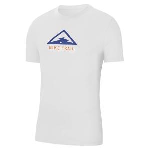 Nike Dri-FIT Trail Maglietta - White/Astronomy Blue