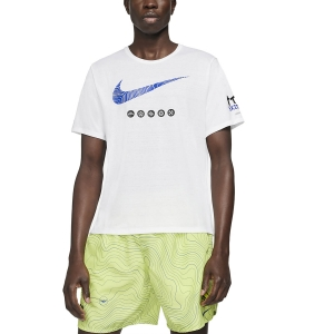 Nike Dri-FIT Miler Ekiden T-Shirt - White/Black