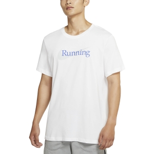 Men's Running T-Shirt Nike DriFIT Run TShirt  White CW0945100
