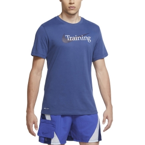 Men's Fitness & Training T-Shirt Nike DriFIT Swoosh TShirt  Mystic Navy CZ7989469