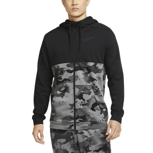 Men's Fitness & Training Shirt and Hoodie Nike Dry Camo Hoodie  Black/Iron Grey/Grey Fog CU6048010