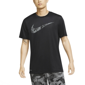 Men's Fitness & Training T-Shirt Nike Dry Camo Swoosh TShirt  Black CU8498010