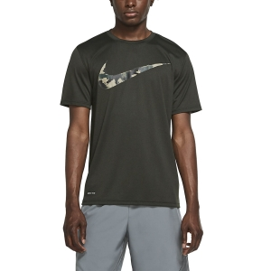 Men's Fitness & Training T-Shirt Nike Dry Camo Swoosh TShirt  Sequoia CU8498355