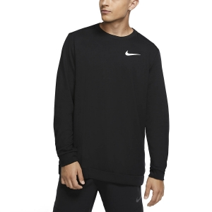 Men's Fitness & Training Shirt and Hoodie Nike Dry Fleece Crew Sweatshirt  Black/White CU6795010