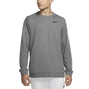 Men's Fitness & Training Shirt and Hoodie Nike Dry Fleece Crew Sweatshirt  Charcoal Heather/Black CU6795071