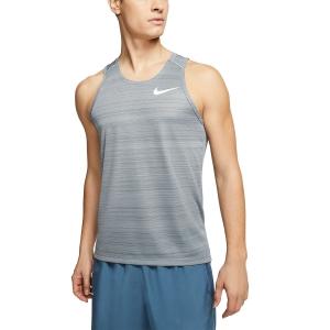 Nike Dry Miler Canotta - Smoke Grey/Heather/Reflective Silver