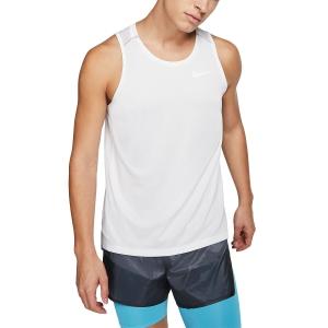 Nike Dry Miler Canotta - White/Vast Grey/Reflective Silver