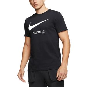 Nike Dry Run Maglietta - Black/White