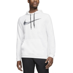 Men's Fitness & Training Shirt and Hoodie Nike Dry Swoosh Hoodie  White CJ4268100