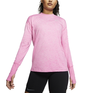 Maglia Running Donna Nike Element Crew Maglia  Magic Flamingo/Heather/Reflective Silver 928741693