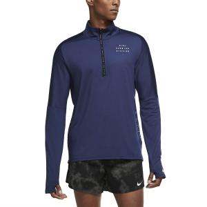 Nike Element Run Division Camisa - Midnight Navy/Reflective Silver