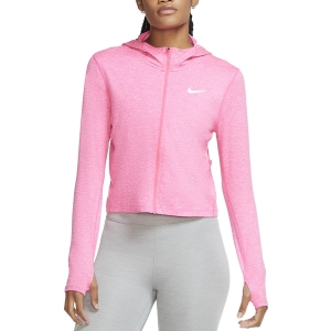 Women's Running Shirt Nike Element Shirt  Hyper Pink/Pink Glow/Heather/Reflective Silver CU3272639