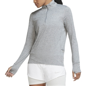 Maglia Running Donna Nike Element Maglia  Smoke Grey/Light Smoke Grey/Reflective Silver CU3220084