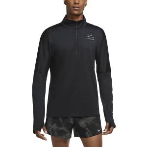 Nike Element Run Division Maglia - Black/Reflective Silver