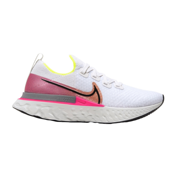 Nike React Infinity Run Flyknit - Platinum Tint/Black Pink/Blast