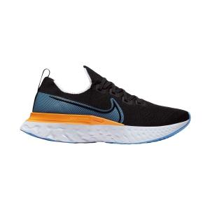 Nike React Infinity Run Flyknit - Black/University Blue/Laser Orange/White