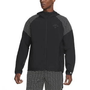 Men's Running Jacket Nike Essential Run Division Flash Jacket  Black/Reflective Silver CU7870010