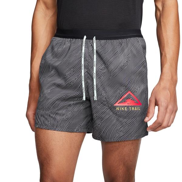 Nike Flex Stride Trail 5in Shorts - Black/Laser Crimson