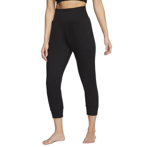 Tight Running Donna Nike Yoga Flow 7/8 Pantaloni  Black/Dark Smoke Grey CJ3827010