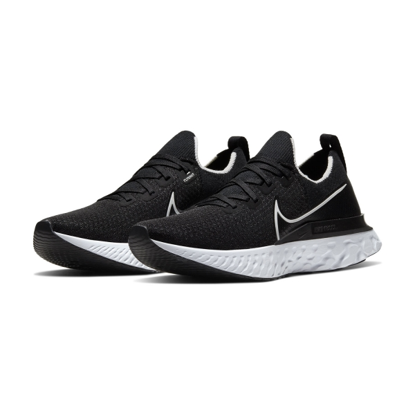 Nike React Infinity Run Flyknit BlackWhiteDark Grey