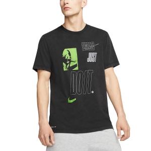 Nike JDI Maglietta - Black/Volt