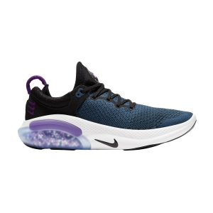 Women's Neutral Running Shoes Nike Joyride Run Flyknit  Black/Vivid Purple/Valerian Blue AQ2731004