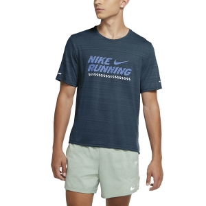 Men's Running T-Shirt Nike Miler Future Fast TShirt  Deep Ocean/Royal Pulse CU6434458