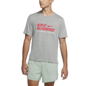 Men's Running T-Shirt Nike Miler Future Fast TShirt  Grey Fog/Bright Crimson CU6434097