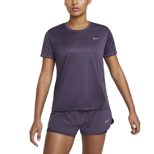 Nike Miler Camiseta - Dark Raisin/Reflective Silver