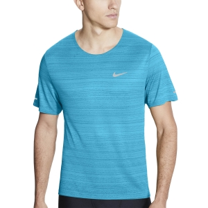 Nike Miler Wild Run Classic Camiseta - Chlorine Blue/Reflective Silver
