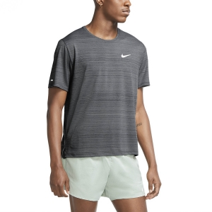 Men's Running T-Shirt Nike Miler Wild Run Classic TShirt  Smoke Grey/Reflective Silver CU5992084