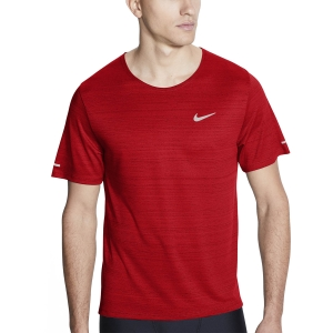 Camisetas Running Hombre Nike Miler Wild Run Classic Camiseta  University Red/Reflective Silver CU5992657