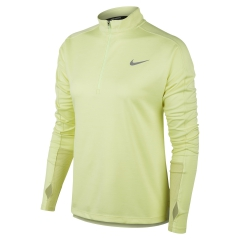 Nike Pacer Half Zip Shirt - Limelight/Heather/White/Reflective Silver