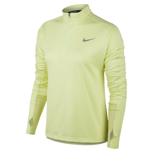 Maglia Running Donna Nike Pacer Half Zip Maglia  Limelight/Heather/White/Reflective Silver 928613367