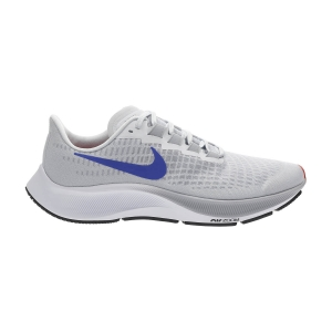 Men's Neutral Running Shoes Nike Air Zoom Pegasus 37  Pure Platinum/Racer Blue/Wolf Grey BQ9646006