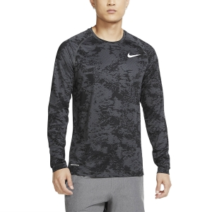 Men's Fitness & Training Shirt and Hoodie Nike Pro Camo Shirt  Iron Grey/White CU4968068
