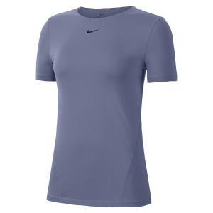Nike Pro T-Shirt - World Indigo/Black