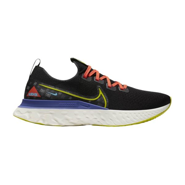 Nike React Infinity Run Flyknit AS - Black/Bright Cactus/Sail/Rush Violet