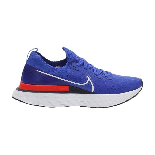 Nike React Infinity Run Flyknit - Racer Blue/White/Bright Crimson/Black