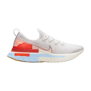 Women's Neutral Running Shoes Nike React Infinity Run Flyknit Premium  Platinum Tint/Washed Coral/Psychic Blue CU0430001