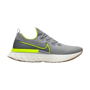Scarpe Running Neutre Uomo Nike React Infinity Run Flyknit  Particle Grey/Volt/Wolf Grey/Sail CD4371008