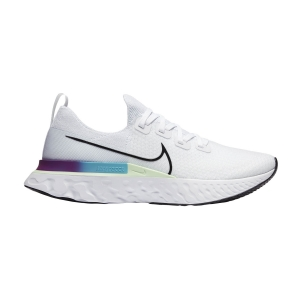 Men's Neutral Running Shoes Nike React Infinity Run Flyknit  White/Black/Vapor Green/Oracle Aqua CD4371102
