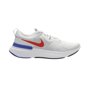 Men's Neutral Running Shoes Nike React Miler  Pure Platinum/Bright Crimson/Racer Blue CW1777008
