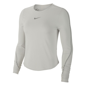 Maglia Running Donna Nike Runway Maglia  Platinum Tint/Reflective Silver CK2312096