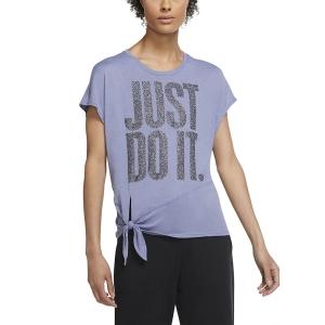 Nike Sleeve Sparkle T-Shirt - World Indigo/Black