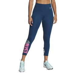 Nike Speed Just Do It 7/8 Tights - Valerian Blue/Reflective Silver