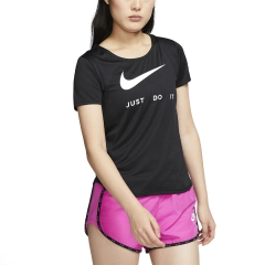Nike Swoosh Maglietta - Black/Reflective Silver