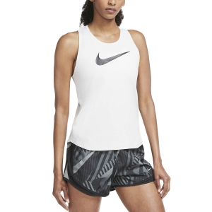 Women's Running Tank Nike Swoosh Run Tank  Grey Fog/Reflective Silver/Black CU3252097