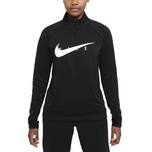 Nike Swoosh Run Camisa - Black/White